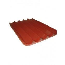 Bandeja aluminio perforado 40x60 4 canales caucho rojo (Min. 10 Uni.) [406004LR]