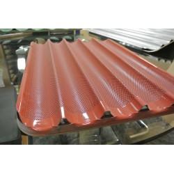 Bandeja aluminio 50x75 plana caucho rojo